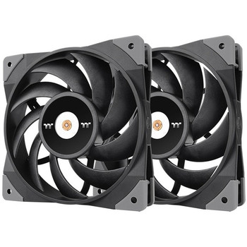Thermaltake ToughFan 12 High Static Pressure Radiator Fan (2 Fan Pack) - 2 Pack CL-F082-PL12BL-A