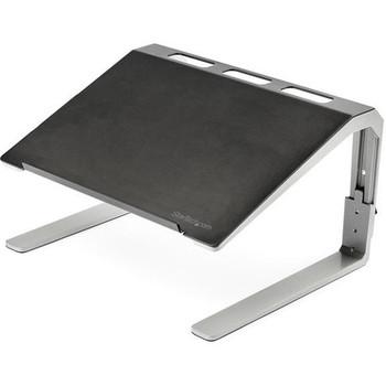 StarTech.com Adjustable Laptop Stand - Heavy Duty Steel & Aluminum - 3 Height Settings - Tilted - Ergonomic Laptop Riser for Desk (LTSTND) LTSTND