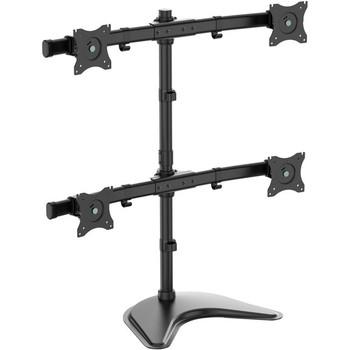 Tripp Lite TV Desk Mount Monitor Stand Quad-Display Swivel Tilt for 13-27in Flat Screen Displays DDR1327MQ