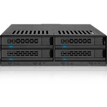 """Icy Dock ExpressCage MB324SP-B Drive Enclosure for 5.25"""" - Serial ATA/600 Host Interface Internal - Black MB324SP-B"""