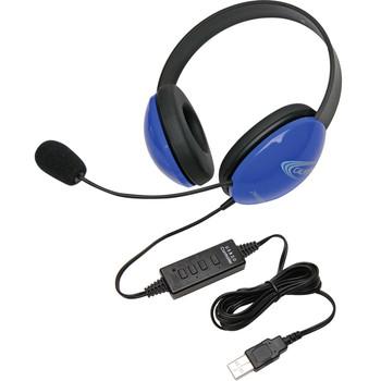 Califone USB Stereo Headphones Listening First Series Blue 2800BL-USB