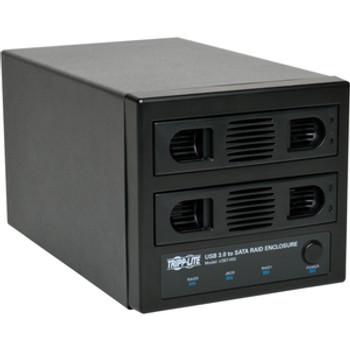 Tripp Lite USB 3.0 SuperSpeed 2 Bay SATA Hard Drive RAID Enclosure w Fan U357-002