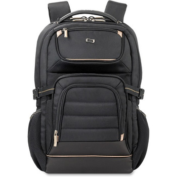 """Solo Pro Carrying Case (Backpack) for 17.3"""" Notebook - Black, Gold PRO742-4"""
