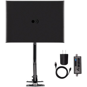 ClearStream(TM) FUSION(R) Amplified UHF/VHF Indoor/Outdoor HDTV Antenna with 20-Inch Mast