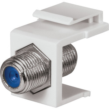 3 GHz F-Connector Keystone Insert (White)