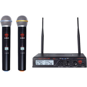 Dual UHF 100-Channel Wireless Handheld Microphone System
