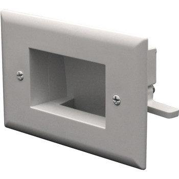 Datacomm 1 Socket Easy Mount Low Voltage Cable Faceplate