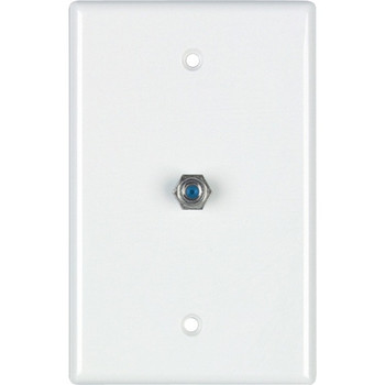 DataComm 2.4 GHZ Coax Wall Plate, White, UL
