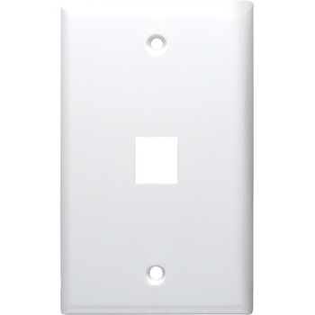 1-Port Standard Size Keystone Wall Plate (White)