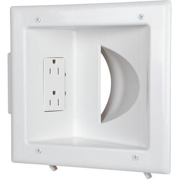 Datacomm Recessed Low Voltage Media Plate