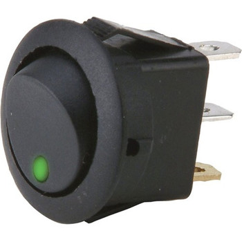The InstallBay Round Rocker Switch Green Led No Leads 20amp - Pack of 5