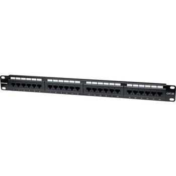 Intellinet Network Solutions 24-Port Rackmount Cat5e UTP 110/Krone Patch Panel, 1U
