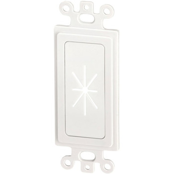 Decor Insert with Flexible Opening (White)