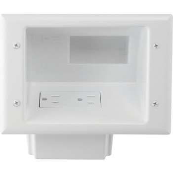 DataComm 45-0071-WH Recessed Low-Voltage Mid-Size Plate