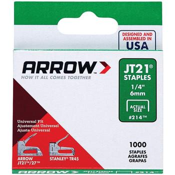 "JT21(R) Thin Wire Staples, 1,000 pk (1/4"")"