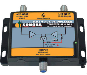Sonora AD14 Active DBS SWM Off-Air Diplexer