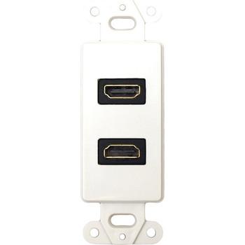 Datacomm 20-4502-WH Digital Audio/Video Faceplate Insert
