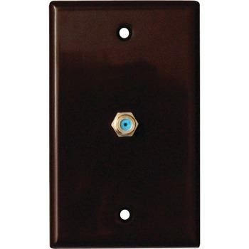 DataComm 2.4 GHZ Coax Wall Plate, Brown, UL