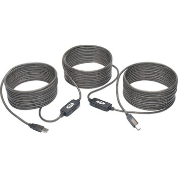 Tripp Lite 50ft USB 2.0 Hi-Speed Active Repeater Cable USB-A to USB-B M/M