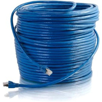C2G 100ft Cat6 Snagless Solid Shielded Network Patch Cable - Blue