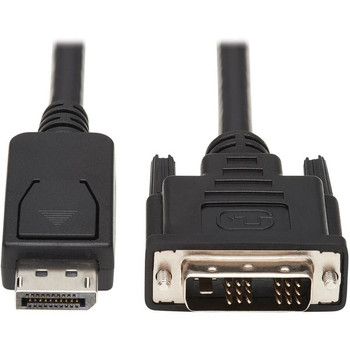 Tripp Lite 10ft DisplayPort to DVI Cable / DP to DVI Adapter Latches to DVI-D Single Link M/M
