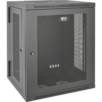Tripp Lite 15U Wall Mount Rack Enclosure Server Cabinet Hinged Wallmount - SRW15US
