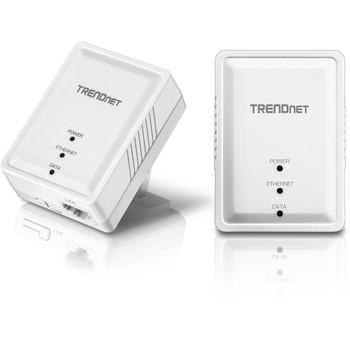 TRENDnet Powerline 500 AV Nano Adapter Kit, Includes 2 x TPL-406E Adapters, Cross Compatible With Powerline 600-500-200, Windows 10, 8.1, 8, 7, Vista, XP, Plug & Play Install, White, TPL-406E2K