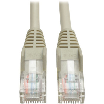 Tripp Lite 100ft Cat5e Cat5 Snagless Molded Patch Cable RJ45 M/M Gray 100'