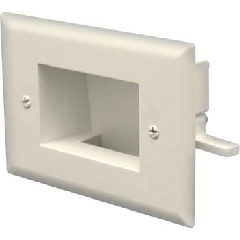 Datacomm 1 Socket Easy Mount Recessed Faceplate