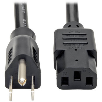 Tripp Lite 12ft Computer Power Cord Cable 5-15P to C13 Heavy Duty 15A 14AWG 12'