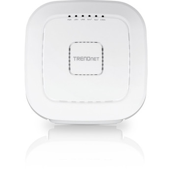 TRENDnet AC2200 Tri-Band PoE+ Indoor Wireless Access Point, 867Mbps WiFi AC + 400Mbps WiFi N Bands, Wave 2 MUMIMO, Client bridge, WDS, AP, WDS Bridge, WDS Station, Repeater Modes, White, TEW-826DAP
