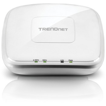 TRENDnet AC1750 Dual Band PoE Access Point, 1300Mbps WiFi AC+450 Mbps WiFi N, WDS Bridge, WDS Station, Repeater Modes, Band Steering, WiFi Traffic Shaping, IPv6, White, TEW-825DAP