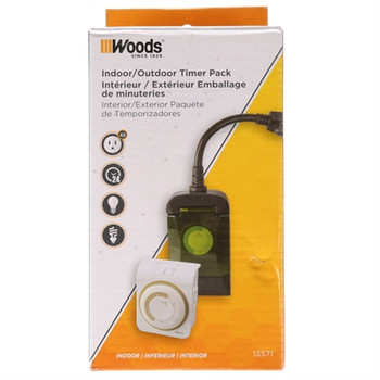 In Outdoor Timer 2PK