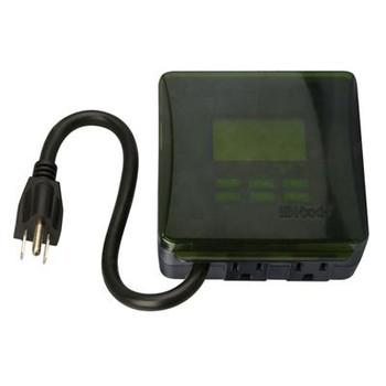 Woods 50015 Outdoor Digital 2-Outlet Timer