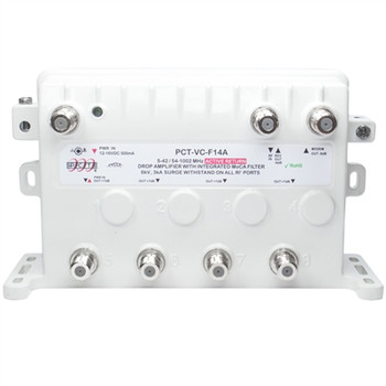 PCT Active Return RF Drop Amplifier with Integrated MoCA Filter (PCT-VC-F14AN)