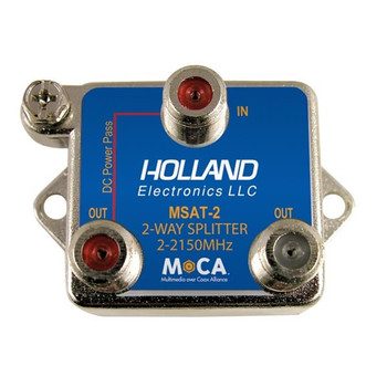 Holland Electronics MSAT-2 MoCA 2-Way Splitter DIRECTV Approved