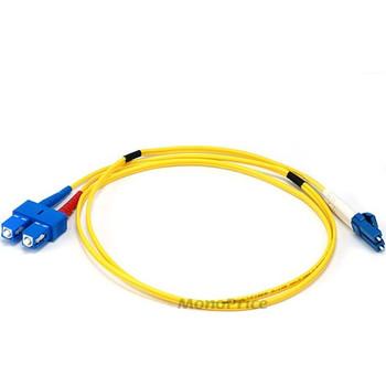 Monoprice Fiber Optic Cable, LC/SC, Single Mode, Duplex - 1 meter (9/125 Type) - Yellow