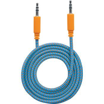 Manhattan 3.5mm Stereo Male to Male, Blue/Orange, 1.8 m (6 ft.)