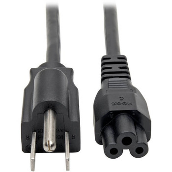 Tripp Lite 3ft Laptop / Notebook Power Cord Cable 5-15P to C5 10A 18AWG 3'