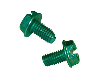 Perfect Vision GS1 Self Tapping Ground Screw, Green (Box of 100)
