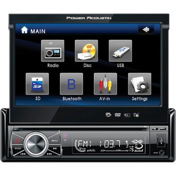 "Power Acoustik PTID-8920B Car DVD Player - 7"" Touchscreen LCD - 68 W RMS - Single DIN - Detachable Front Panel"