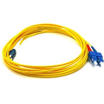 Monoprice Fiber Optic Cable, LC/SC, Single Mode, Duplex - 5 meter (9/125 Type) - Yellow