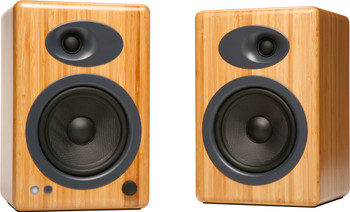 Audioengine A5+ Natural Bamboo Premium Powered Bookshelf Speakers