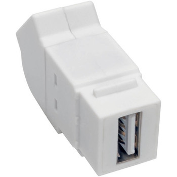 Tripp Lite USB 2.0 All-in-One Keystone/Panel Mount Angled Coupler (F/F), White