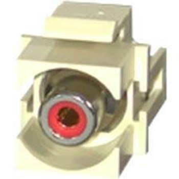 C2G Snap-In Red RCA F/F Keystone Insert Module - Ivory