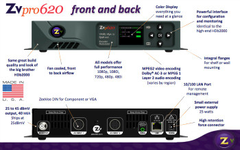 ZeeVee ZvPro 610 Component and VGA Encoder / QAM Modulator