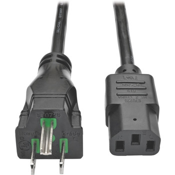 Tripp Lite 10ft Computer Power Cord Hospital Medical Cable 5-15P to C13 10A 18AWG 10'