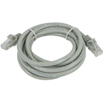 Monoprice FLEXboot Series Cat5e 24AWG UTP Ethernet Network Patch Cable, 7ft Gray