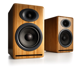Audioengine P4 Passive Bookshelf Speakers with Natural Bamboo (Pair)