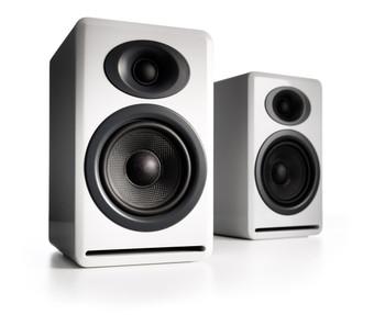 Audioengine P4 Passive Bookshelf Speakers - Glossy White (Pair)